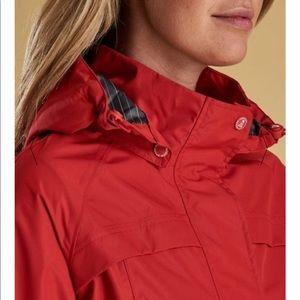 Barbour Red Rain Jacket Dalgetty US 6 NWT